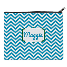 Print Your Own Turquoise Chevron Bag 8