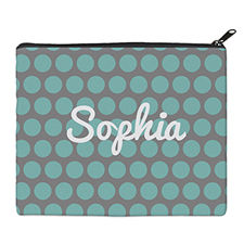 Print Your Own Aqua Grey Large Dots Bag 8