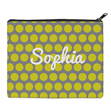 Print Your Own Yellow Grey Large Dots Bag 8