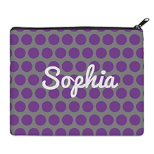 Print Your Own Purple And Grey Large Dots Bag 8