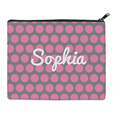 Print Your Own Pink Grey Large Dots Bag 8