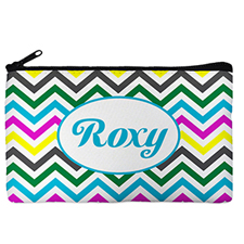 Custom Design Your Own Yellow Colourful Chevron Makeup Bag 5