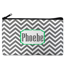 Custom Design Your Own Grey Chevron Makeup Bag 5