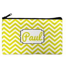 Custom Design Your Own Yellow Chevron Makeup Bag 5