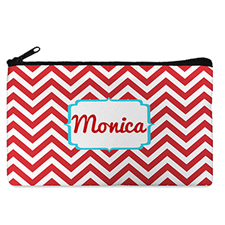 Custom Design Your Own Red Chevron Makeup Bag 5