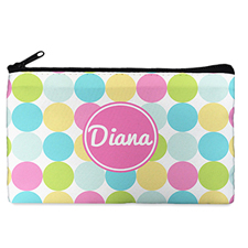 Custom Design Your Own Pink Colourful Large Dots Makeup Bag 5