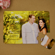 Personalised Formal Date Save The Date Puzzle Invite