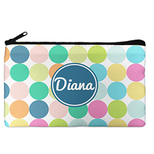 Custom Design Your Own Navy Colourful Large Dots Makeup Bag 5