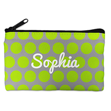 Custom Design Your Own Lime Grey Large Dots Makeup Bag 5