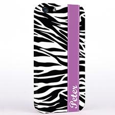Personalised Zebra Print iPhone Case