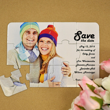 Personalised Ever Lasting Love Save The Date Puzzle Invite