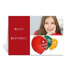 Personalised Elegant Collage Red Birthday Greetings Greeting Cards