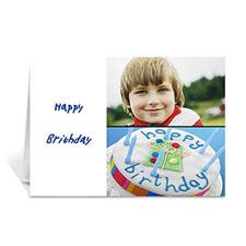 Personalised Elegant Collage White Birthday Greetings Greeting Cards