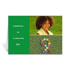 Personalised Elegant Collage Green Birthday Greetings Greeting Cards