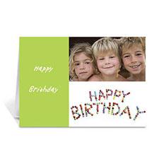 Personalised Elegant Collage Green Easter Greetings Greeting Cards