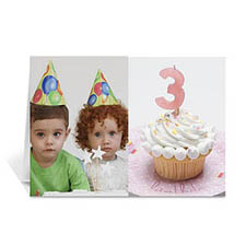 Personalised Classic Two Photo Collage Birthday Card