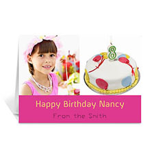 Personalised Two Collage Birthday Photo Cards, 5