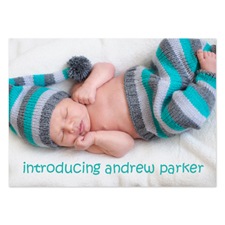 Personalised Full Photo Birth Announcements, 5