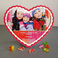 Sending Love Personalised Heart Shape Puzzle