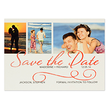 Personalised Wedding Day Save The Date Invitation Cards