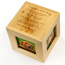 Engraved To My mum Wood Photo Cube
