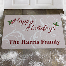 Create Your Own Happy Holidays Door Mat