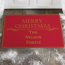 Create Your Own Family Shine, Merry Christmas Door Mat