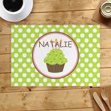Personalised Girl Cupcake Placemats