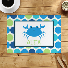 Personalised Crab Placemats