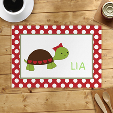 Personalised Bow Tortoise Placemats