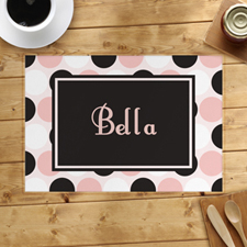 Personalised Polka Dot Placemats