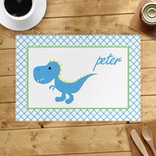 Personalised Blue Dinosaur Placemats