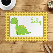 Personalised Green Dinosaur Placemats