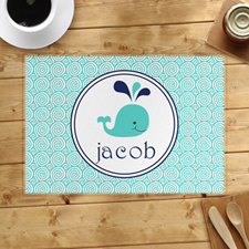 Personalised Blue Whale Placemats