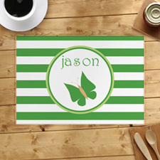 Personalised Stripe Butterfly Placemats