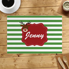 Personalised Reindeer, Girl Placemats