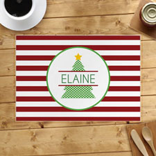 Personalised Christmas Tree Placemats