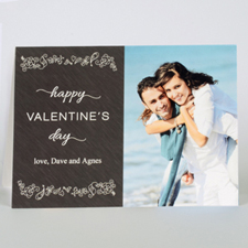 Custom Printed Love To Yours Personalised Photo Valentine's Card