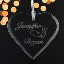 Personalised Engraved I Love You Heart Shaped Ornament