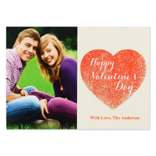 Real Glitter Love To Yours Personalised Photo Valentine Card, 5