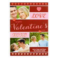 Doodle Hearts Personalised Photo Valentine Card, 5