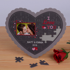 Sweet Love Personalised Heart Shape Puzzle