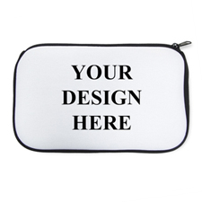 Personalised Neoprene Your Design Here  Black Cosmetic Bag 6