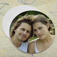 Wedding Photo, Round (Set Of 12) Personalised Coasters