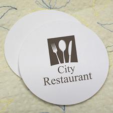 Custom Imprint, Round (Set Of 12) Personalised Coasters