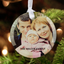 Personalised Photo Glass Ornament Round 3