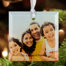 Personalised Photo Glass  Ornament Square 3