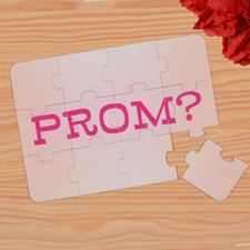 Personalised Prom Puzzle Invite