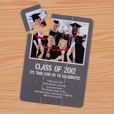 Personalised Graduation Class Puzzle Invite
