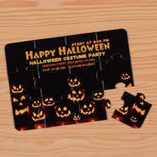 Personalised Halloween Puzzle Invite